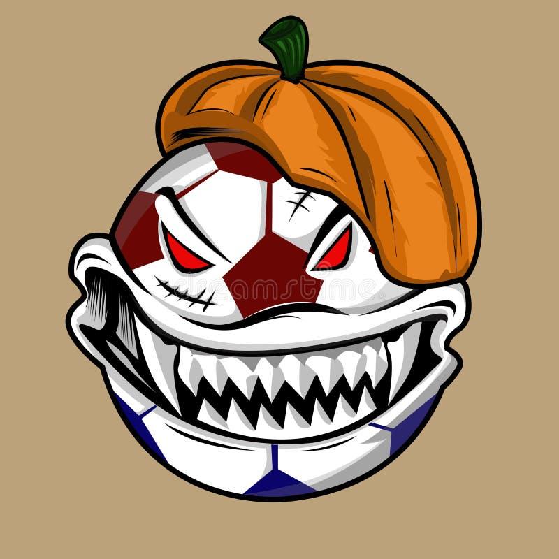 Monstruo de la bola de Halloween imagenes de archivo