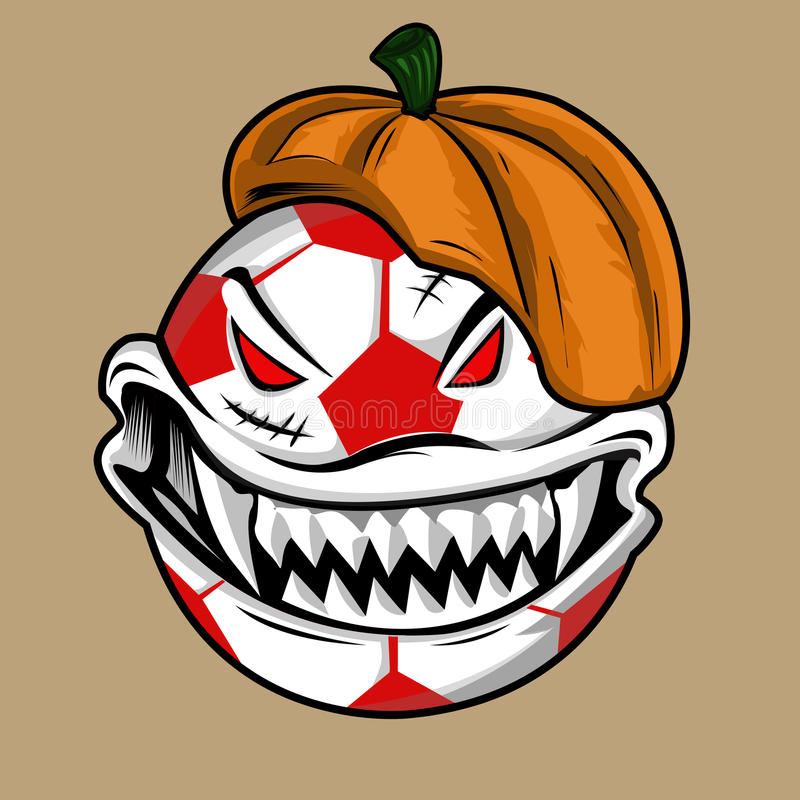 Monstruo de la bola de Halloween imágenes de archivo libres de regalías