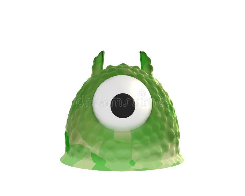 Monstruo de la jalea 3d rinden foto de archivo libre de regalías
