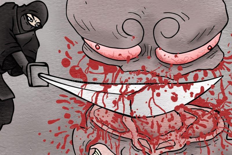 Monstruo de la matanza de Ninja libre illustration