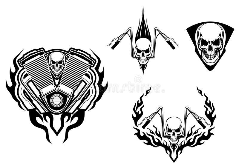 Monstruo de la muerte para competir con la mascota libre illustration