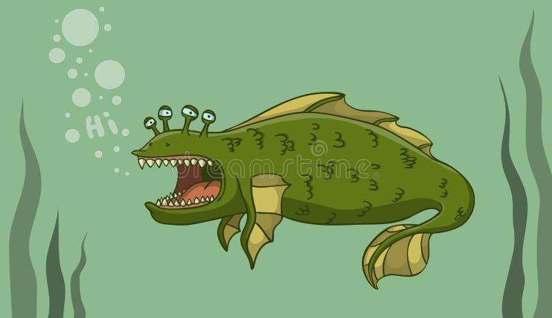 Monstruo del agua libre illustration