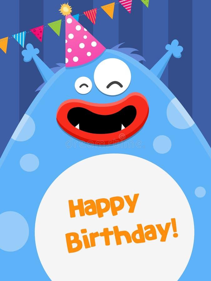 Monstruo del cumpleaños ilustración del vector