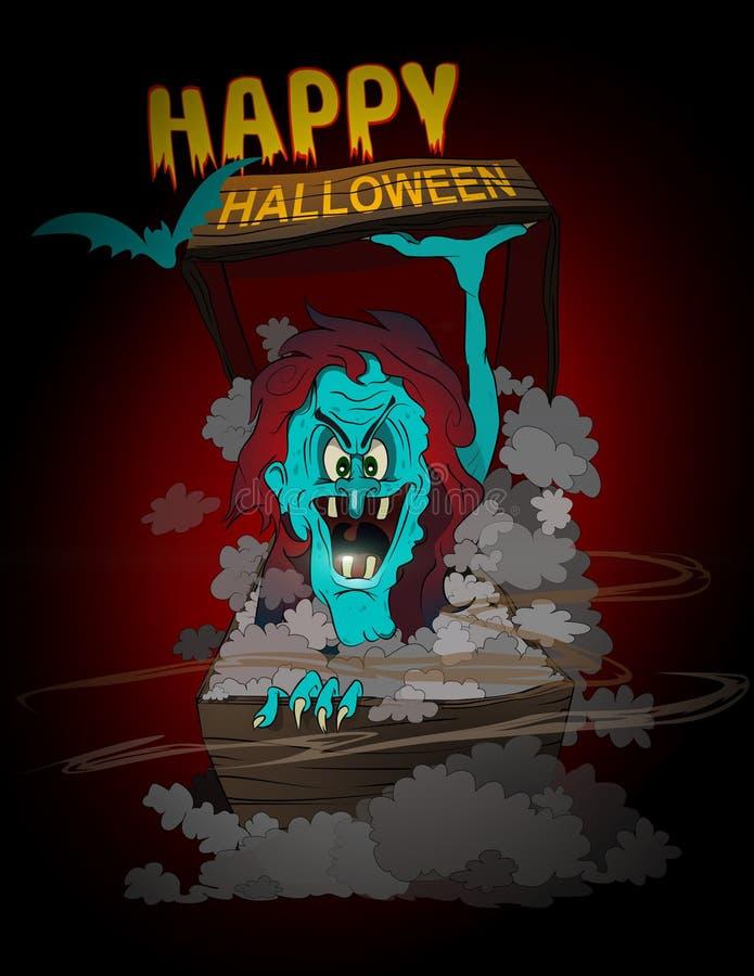 Monstruo del feliz Halloween ilustración del vector