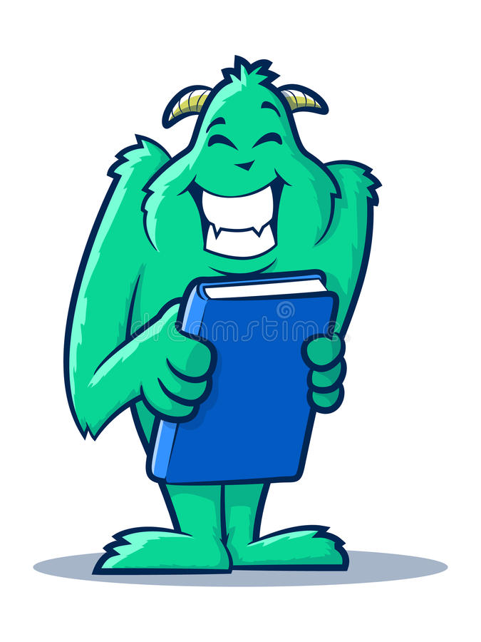Monstruo del libro stock de ilustración