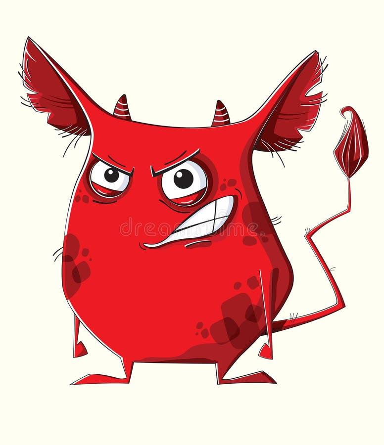 Monstruo del rojo de la cólera stock de ilustración