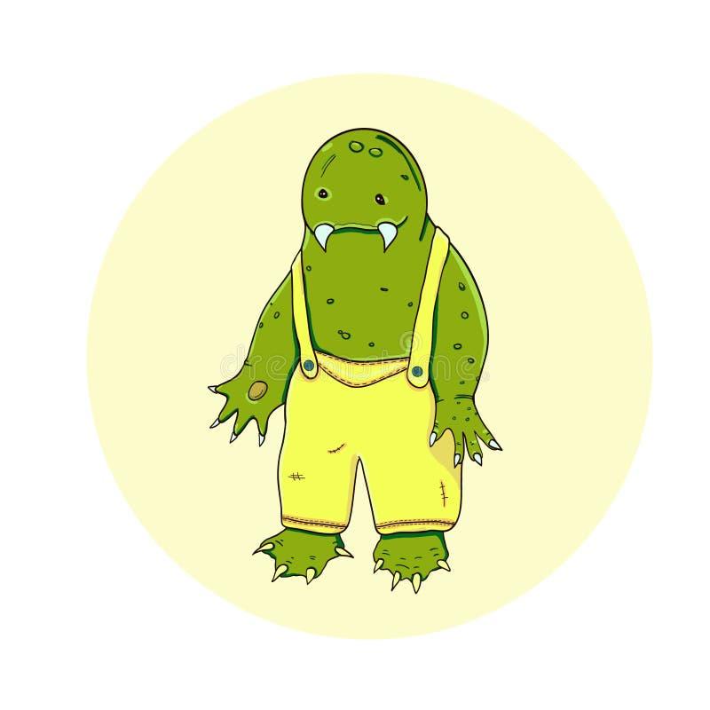 Monstruo del verde de ?artoon imagenes de archivo