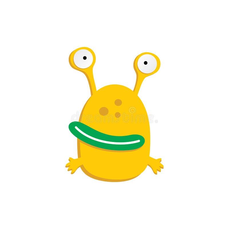 monstruo divertido asustadizo feo adorable lindo de la mascota ilustración del vector