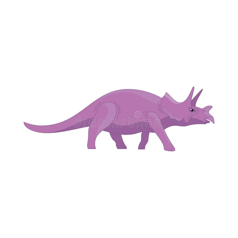 Monstruo divertido lindo de la historieta del dinosaurio Animal del carácter de los dinosaurios de la historieta Niños cómicos de ilustración del vector
