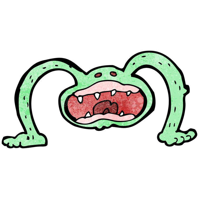 monstruo extraño de la historieta stock de ilustración