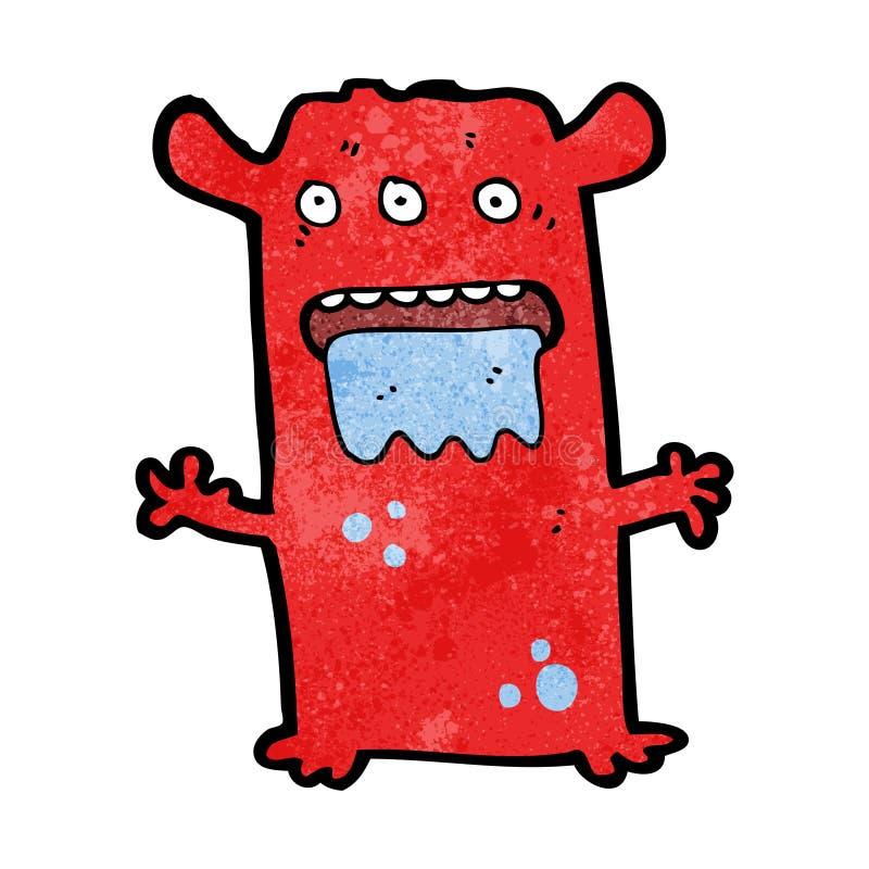 monstruo extranjero extraño de la historieta libre illustration