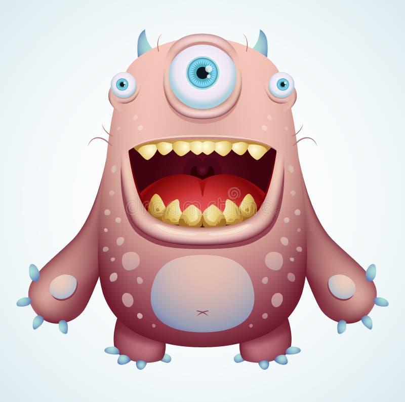 Monstruo feliz stock de ilustración