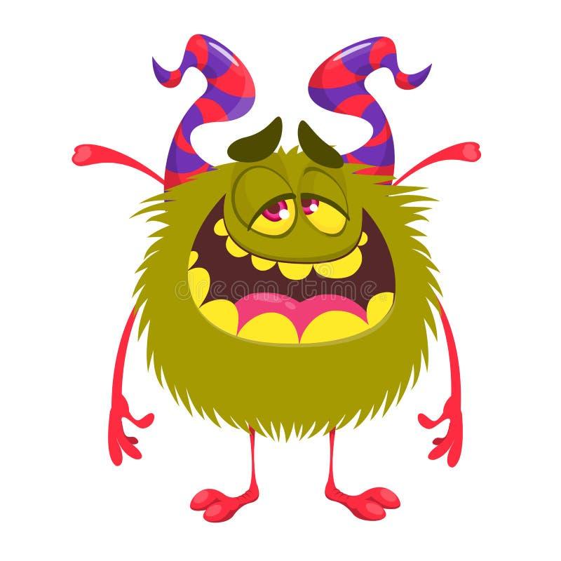 Monstruo feliz de la historieta stock de ilustración