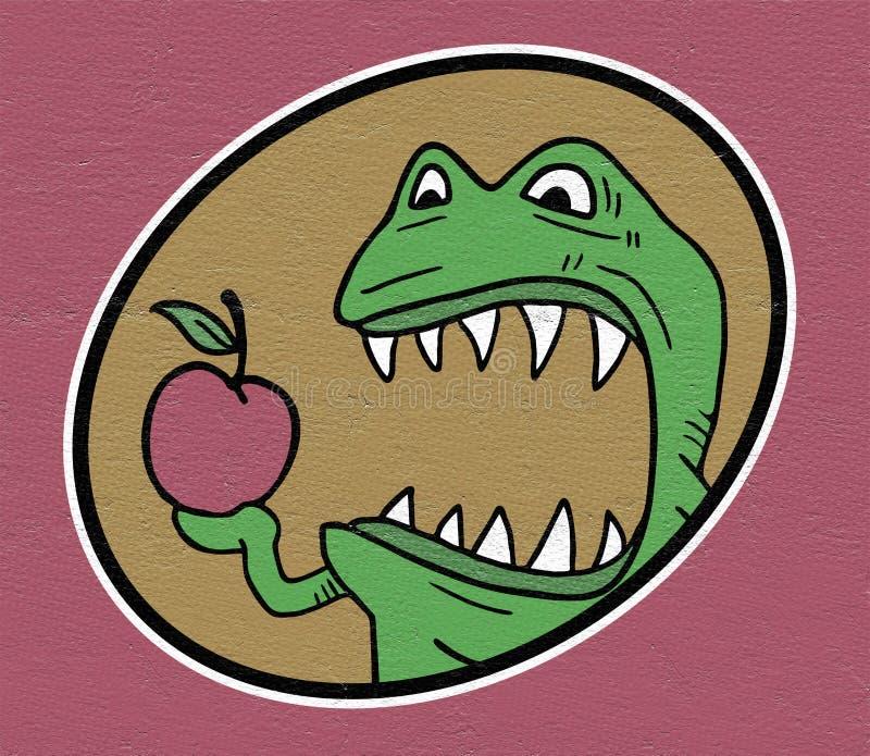 Monstruo hambriento stock de ilustración