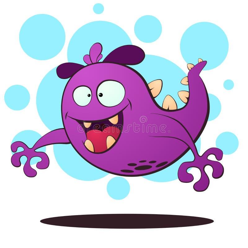 Monstruo malvado de la mosca - ejemplo de la historieta ilustración del vector