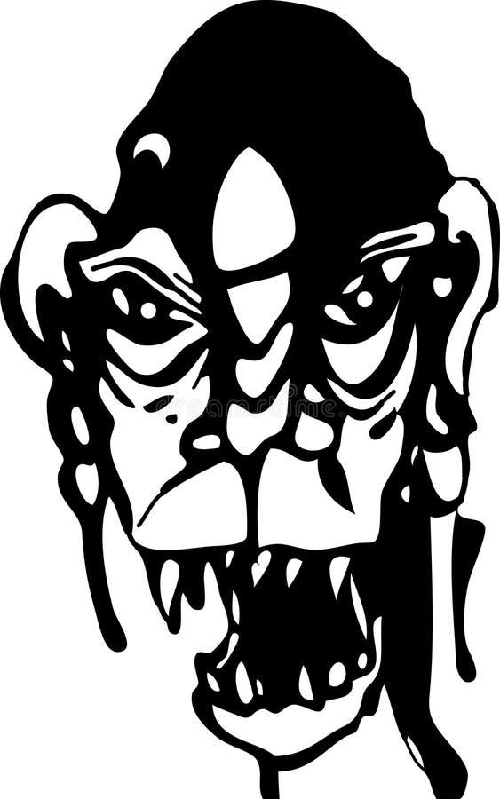 Monstruo malvado del espíritu necrófago ilustración del vector