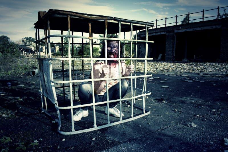 Monstruo malvado del zombi stock de ilustración