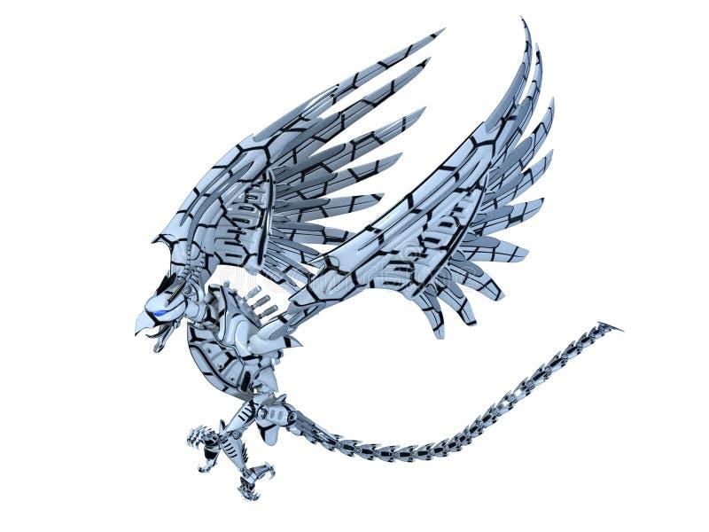 Monstruo mecánico del pájaro ilustración del vector