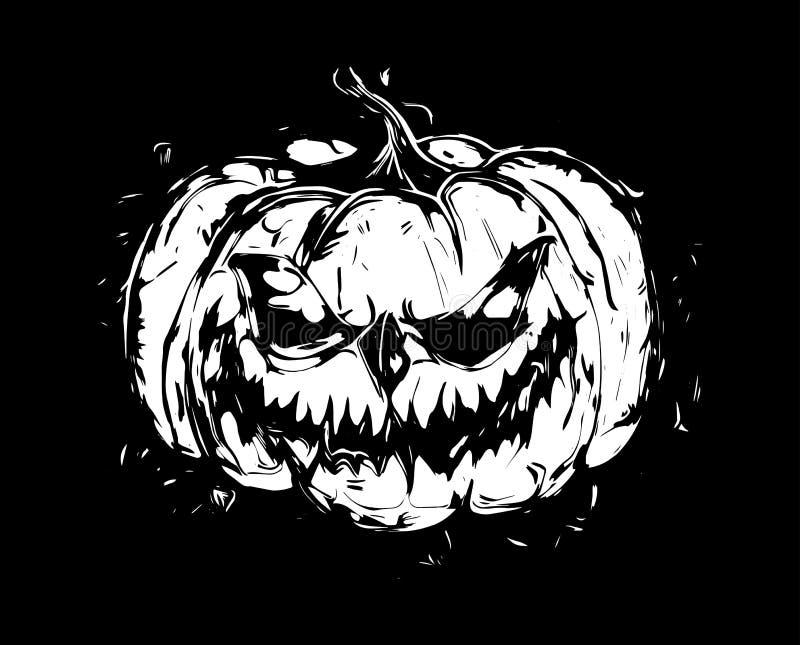 Monstruo principal de la calabaza de Halloween Ilustración del vector stock de ilustración