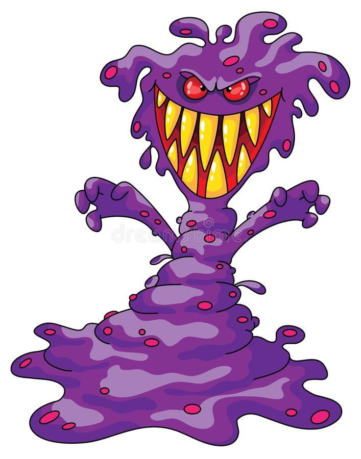 Monstruo violeta asustadizo libre illustration