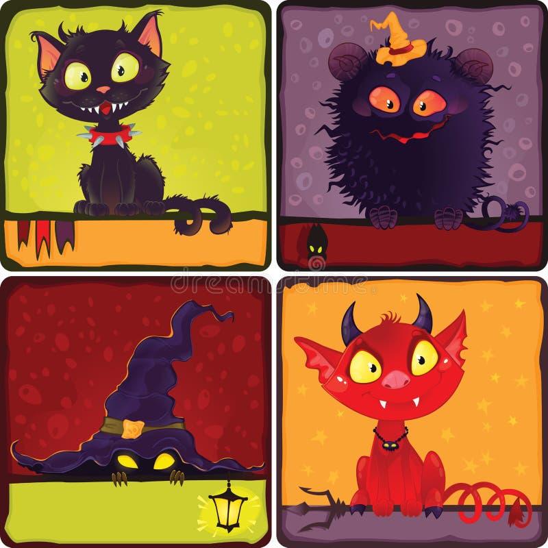 Monstruos de Halloween ilustración del vector