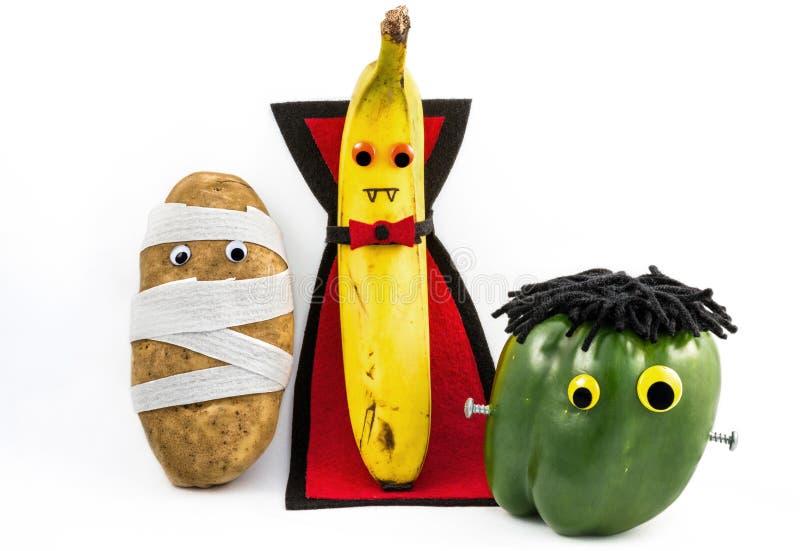 Monstruos de la comida de Halloween foto de archivo