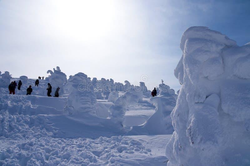 Monstruos de la nieve del Mt Zao en Yamagata, Japón fotos de archivo libres de regalías