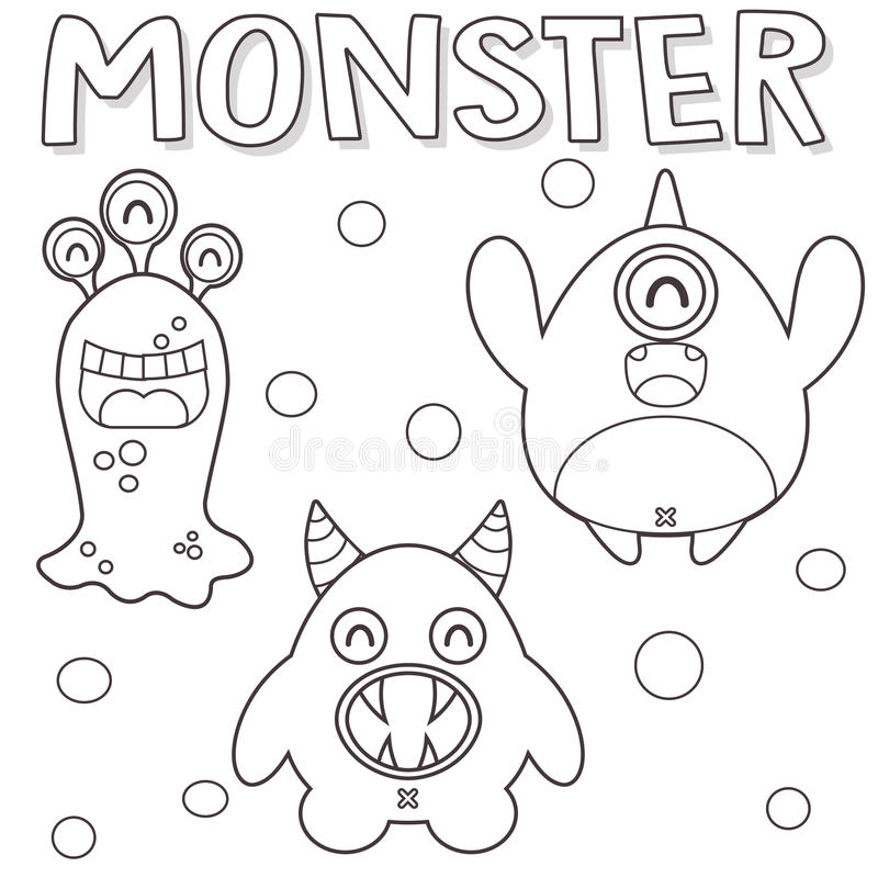 Monstruos resumidos stock de ilustración