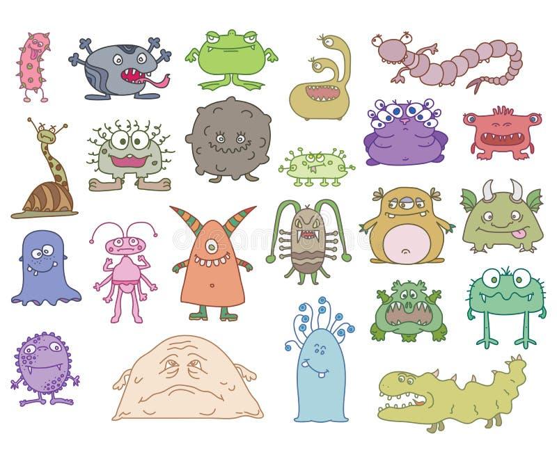Monstruos terribles stock de ilustración