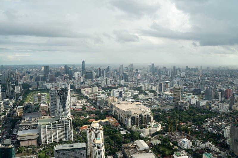 Monsun burza nad Bangkok - mglisty niebo fotografia stock