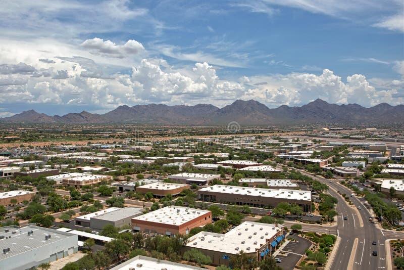 Monsun Chmurnieje nad Scottsdale, Arizona zdjęcia royalty free