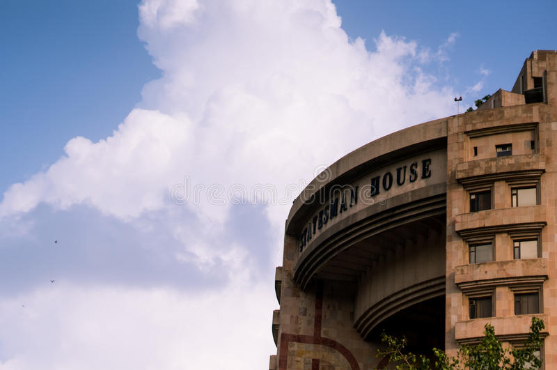 Monsun chmury za męża stanu domem Delhi obraz stock
