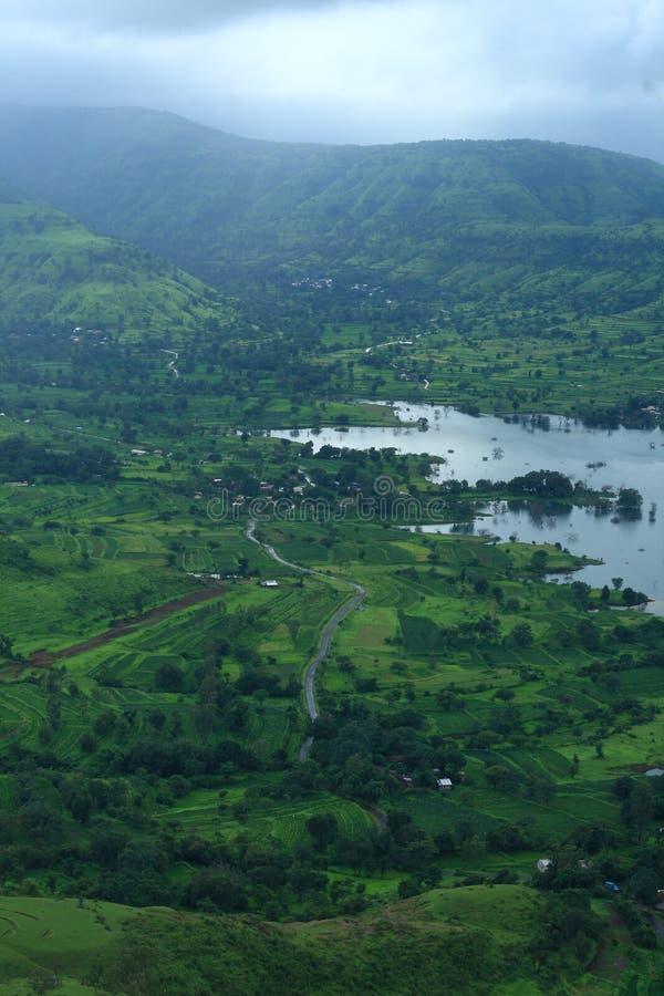 Monsun w Indiańskim krajobrazie obraz royalty free