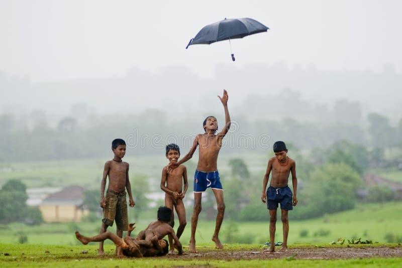 Monsunmanie stockbild