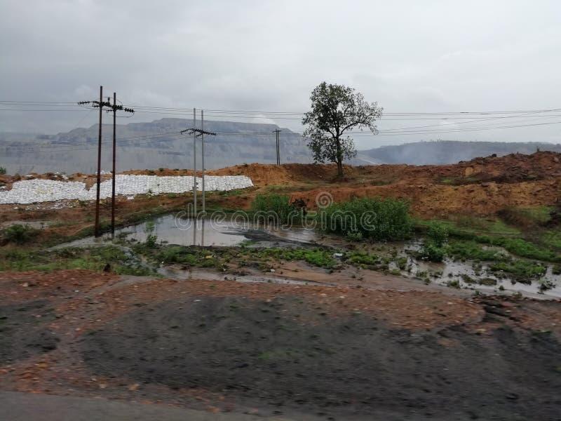 Monsunu sezon bardzo piękna scena natura obraz stock