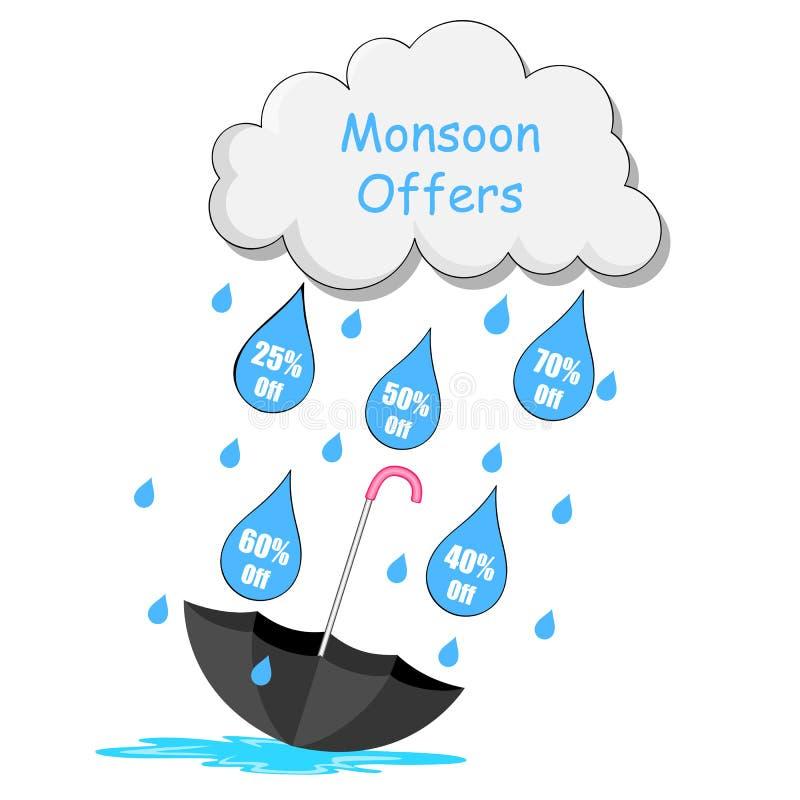 Monsunverkaufsangebot vektor abbildung