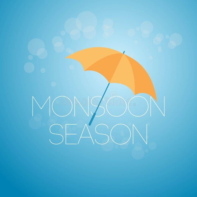 Monsunzeit-April Showers May Flowers Vector-Schablonen-Entwurfs-Illustration stock abbildung