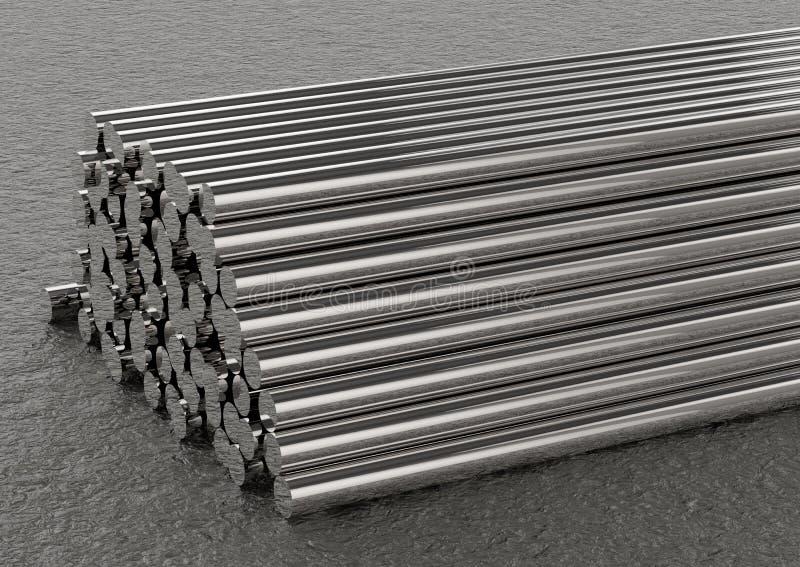 Montão das tubulações ilustração do vetor