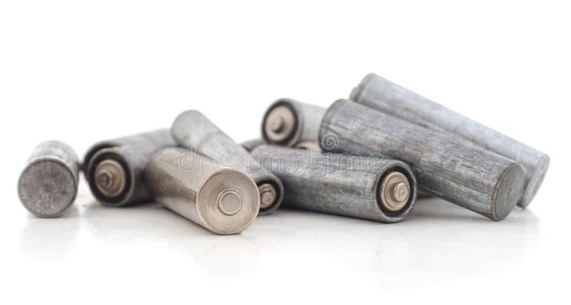 Montão de baterias velhas foto de stock