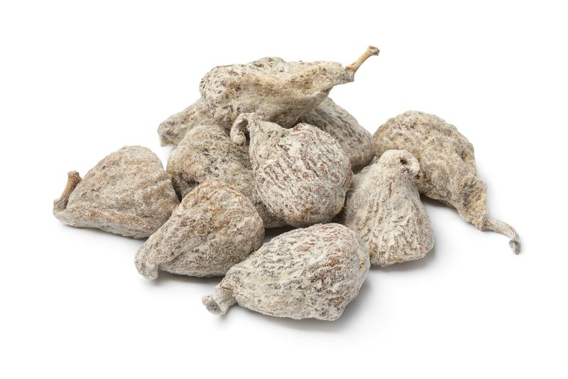 Montão de figos secados espanhóis fotos de stock