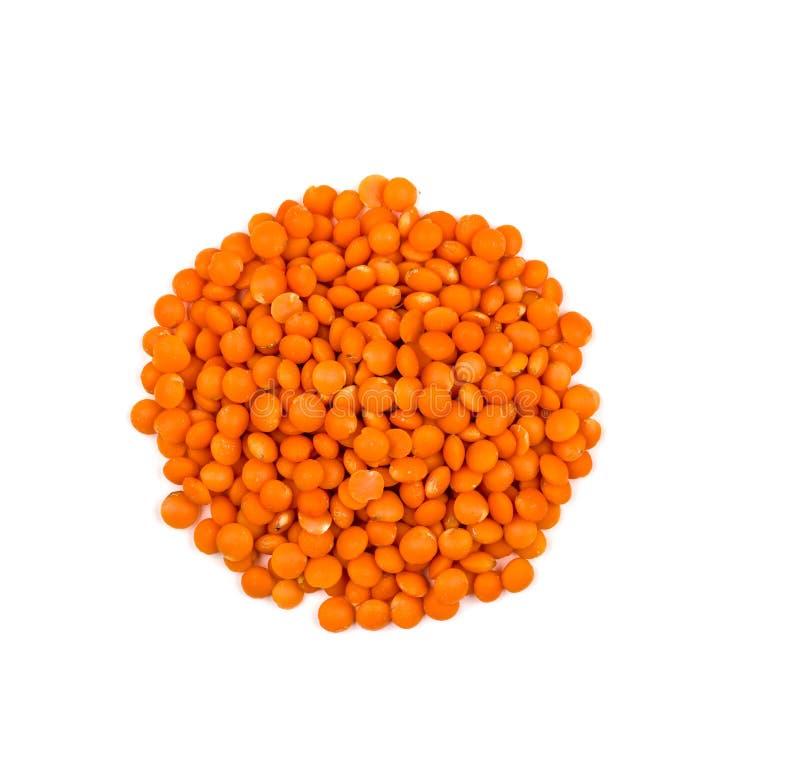 Montão de lentilhas vermelhas fotos de stock royalty free