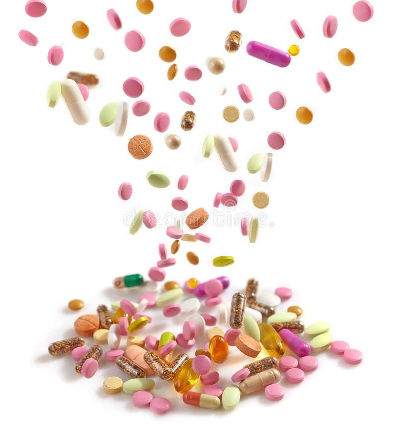 Montão de vários comprimidos foto de stock
