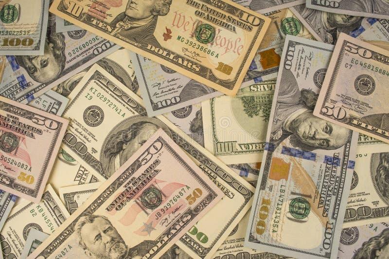 Montão do close-up dos dólares imagem de stock