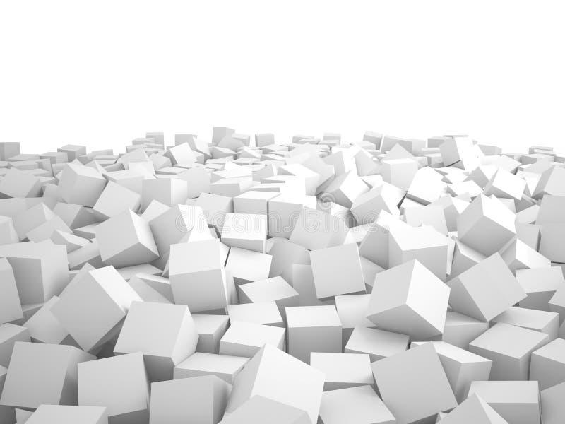 Montão dos cubos, 3D ilustração royalty free