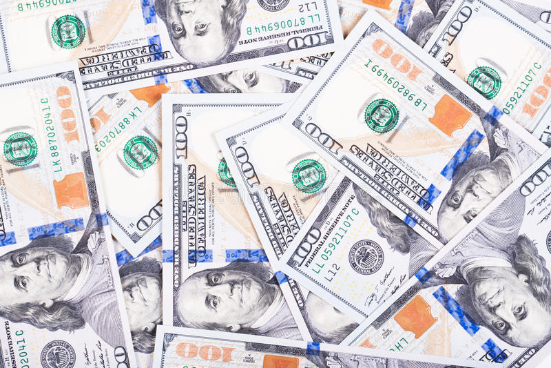Montão dos dólares imagem de stock