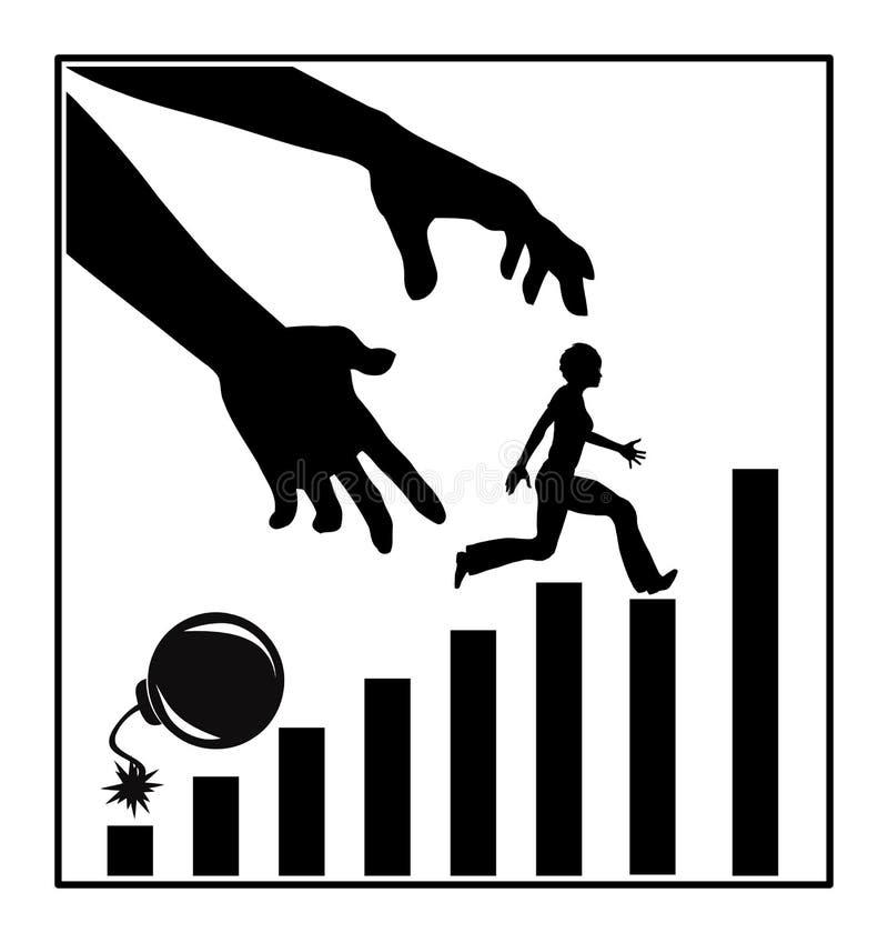 Montée de Job Ladder illustration de vecteur