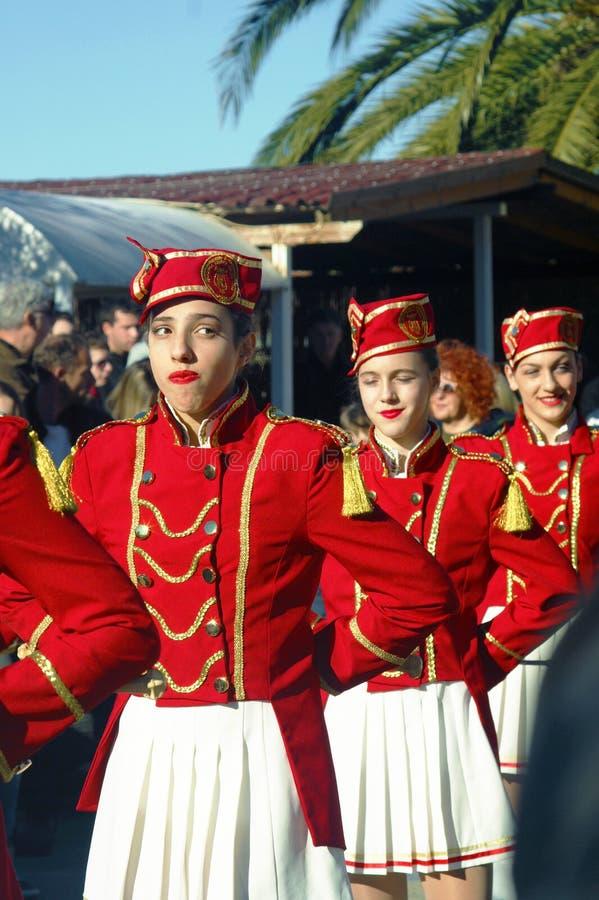 Monténégro, Kumbor - 02/06/2016 : Ville de majorettes de Herceg Novi image libre de droits