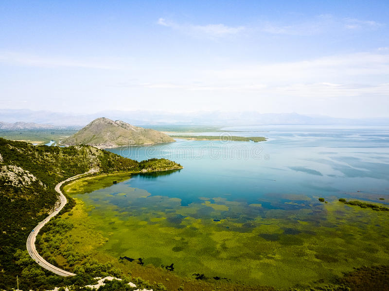 Monténégro, lac Skadar image stock