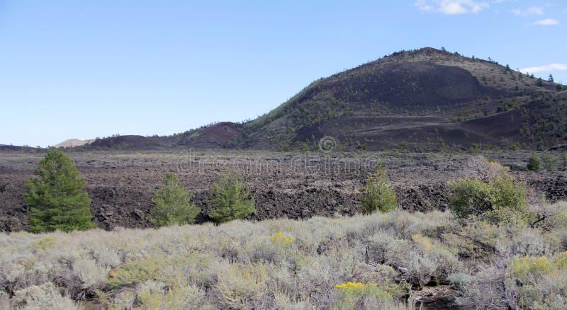 Montículo grande da cinza - crateras da lua, idaho EUA foto de stock