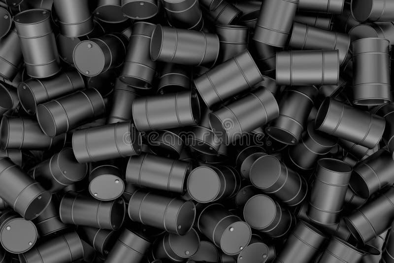Montón de la representación de barriles negros libre illustration